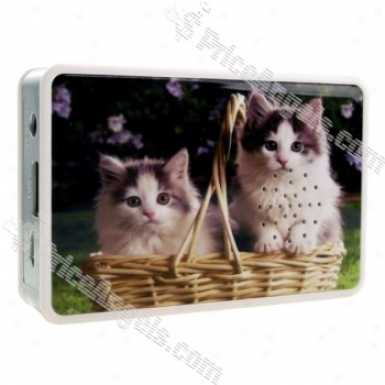 Mini Usb Rechargeable Mp3 Music Speaker-sd/usb Slot(lovely Cate)