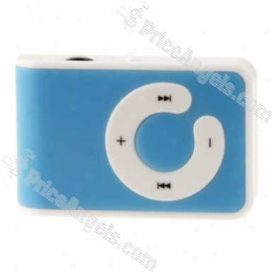 Mini Usb Slim Clip C Shape Button Mp3 Player With Micro Tf Slot(blue)