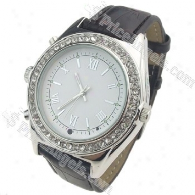 Model 85-2 Usb Rechargeable 0.3m Pixel Pin-hole Spy Av Camera Disguised As Working Wrist Watch(4gb)