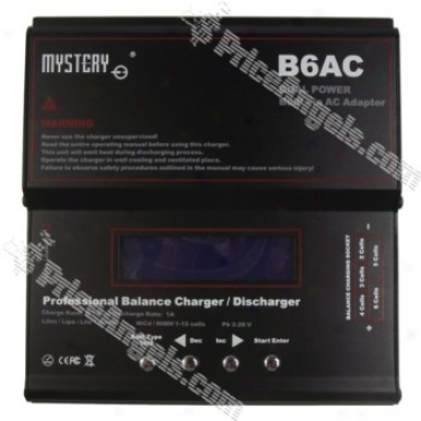 Mystcry B6ac Dual Power Built-in Lcd Digital Battery Balance Charger And Discharger-black