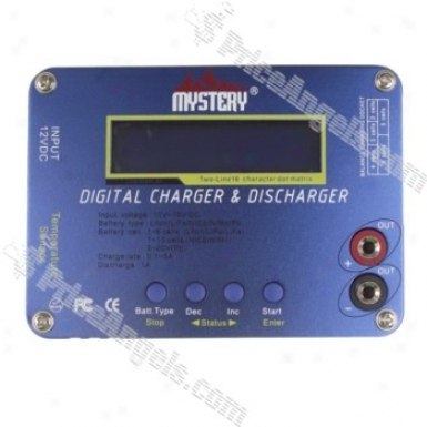 Mystery B6 Lcd Digital Balance Carger And Dischatger-blue