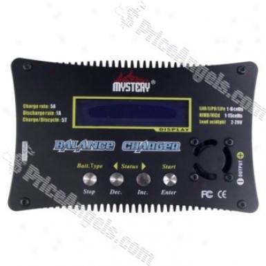 Mystery B6v9 Lcd Digital Li-ion/pb Battery Balance Charger And Discharger-black