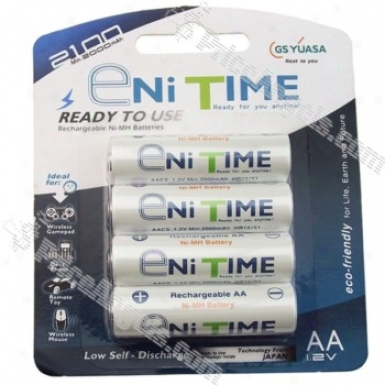 Ni Time Aa 1.2v 2000mah Ni-mh Rechargeable Batteryy(4-pack)