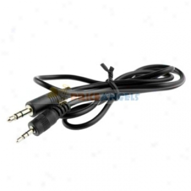 Nickel Plated 3.5mm Male To 25mm Audio Cable Adapter 80cm