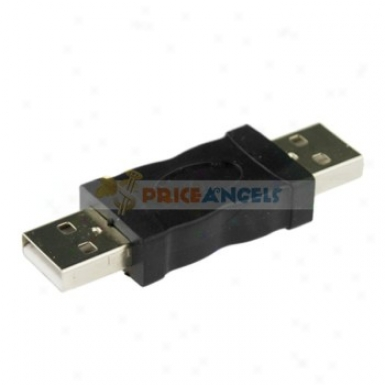 Nickel Plated Usb Male To Male Adapter Conve5ter