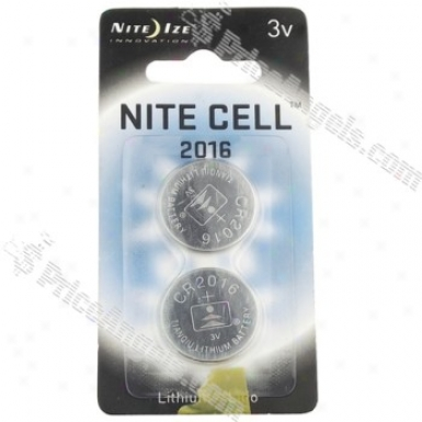 Nite Ize 3v Cr2016 Button Cell Battery(2-pack)