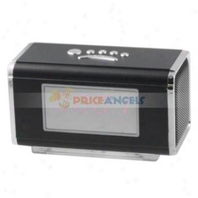 Nizhi Sports Style Mini Speaker Amplifier W/ Fm Radio+tf Card Usb Slots+led Screen For Pc Mp3 Mp4 Player(black)