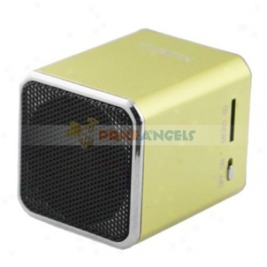 Nizhi Sports Manner Mini Speaker Amplifier W/ Fm Radio+tf Card Usb Slots For Pc Mp3 Mp4 Player(green)