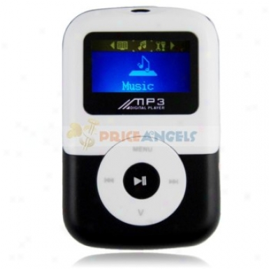 Plastic Case Blue Screen 2gb Memory Mp3 Player With Tf Card Slot/audio Cable (black)