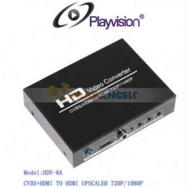 Playvision Hdv-8a Av+hdmi To Hdmi Converter Av+hdmi To Hdmi