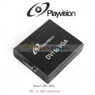 Playvision Hdv-dv01 Dvi To Vga Converter Dvi To Vga Converter Case