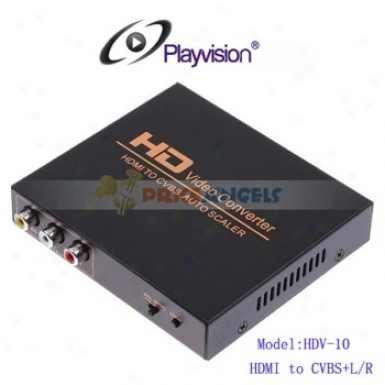 Playvision Hdv-hd10 Hdmi To Av Converter Hdmi To Cvbs Converter