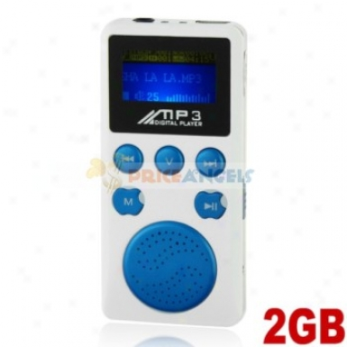 Portable 2gb Mp3 Media Player With Louder Speaker(blue)