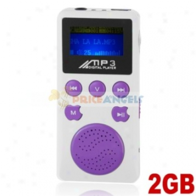 Portable 2gb Mp3 Media Player With Louder Speaker(putple)