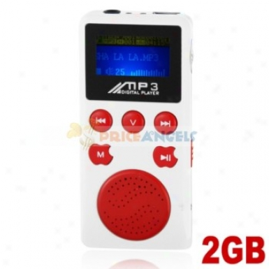 Movable 2gb Mp3 Mwdia Gamester With Louder Speaker(red)
