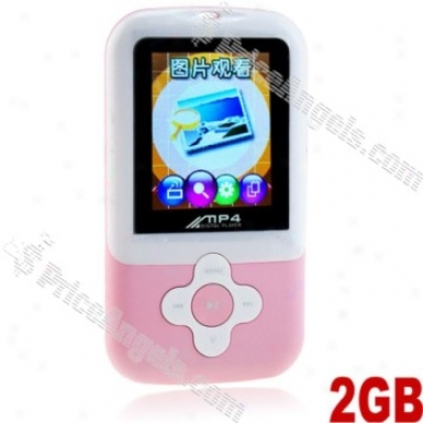 Portable 2gb Mp3/4 Fm Radio Digital Media Player-pink