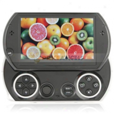 Portable 4.3-inch Touch Screen Mp5 Multimedia Player With 1.0mp Camera-black(fm/tv-out/tf Slot/4gb)