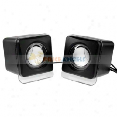 Portable Hifi Square Design Multimedia Usb 2.0 Mini Stereo Speaker