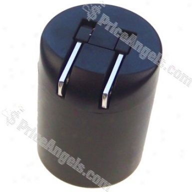Movable Mini Dual Usb Power Adapter / Charger (100~240v / Us Stopple)