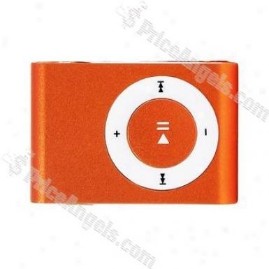 Portable Mini Usb Slight Clip Mp3 Player With Micro Sd / Tf Card Slot - Orange