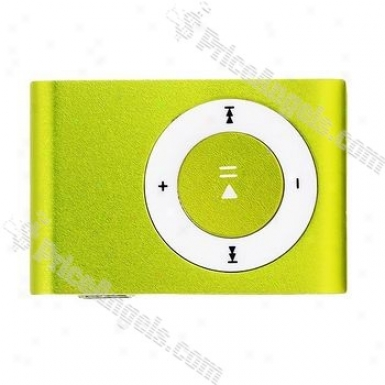Portable Mini Usb Slim Clip Mp3 Player With Micro Sd / Tf Card Slot - Apple Green