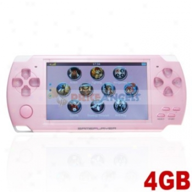 Portable Mp5 Player Game Console With 4gb Camera Fm(pink)