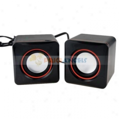 Portable Multimedia Stereo Soundbix Usb 2.0 Desktop Speaker In favor of Laptop Computer(black)