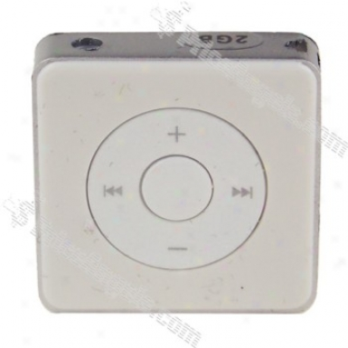 Portable Square Design Screen-free Mini Mp3 Media Player(2gb/white)