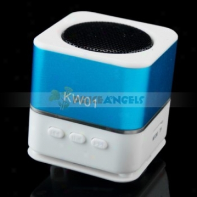 Portable Usb Mobile Mini Speaket With Fm/tf Card Slot(blue)