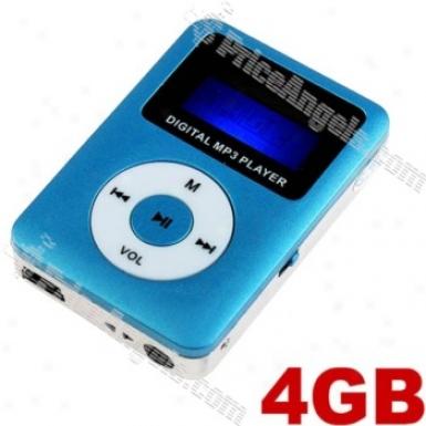 Pirtable Usb Rechargealbe Mini Digital Mp3 Player-blue(4gb)