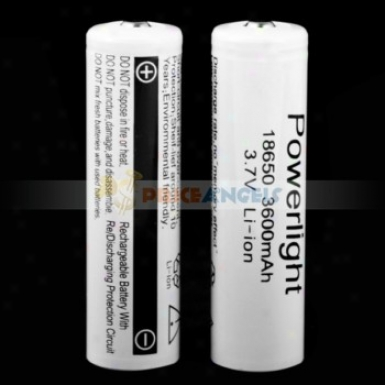 Powerlight 18650 3600mah 3.7v Rechargeable Li-ion Battery(2-pack)