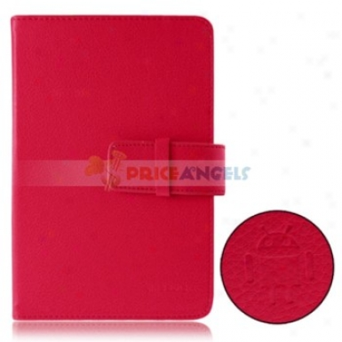 Protective Leather Carrying Case Cover For 7 Inch Tablet Pc(red)