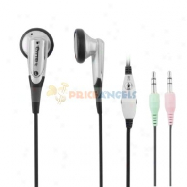 Qinet Q-905mv 3.5mm Audio Jack Stereo In-ear Earphone With Microphone/volume Control For Mp3 Ckmputer(silver)