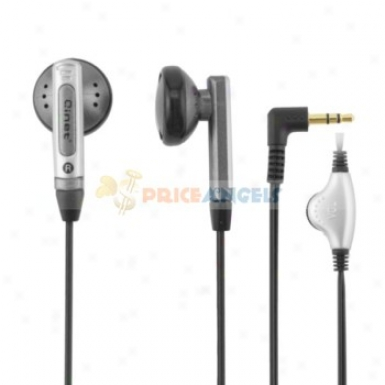 Qinet Q-907mv 3.5mm Audio Jack Stereo In-ear Earphone With Volume Control For Mp3 Computer(silver)