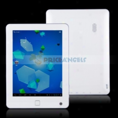 Quanzhi A10 Android4.0.3 1.5ghz 4g 8-inch Five Point Capacitive Small table Pc (white)
