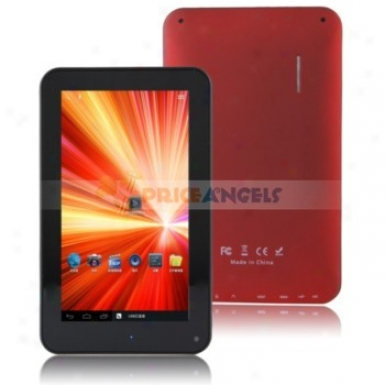 Quanzhi A10 Android4.0.3 Cortex A8 1.2ghz 7-inch Capacitive Tablet Pc(red)