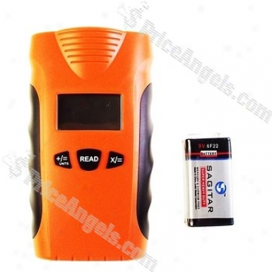 """1.4"""" Lcd Mini Ultrasonic Range / Distance Meter Upon Laser Guide (0.5m~18m / 1*6f22 9v Dc)"""