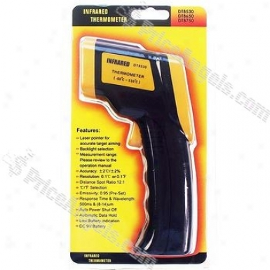 """1.5"""" Lcd Non Contact Digital Infrared Thermometer With Lasser Sight (-50?~530?)"""
