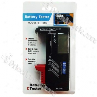 """3.5"""" Lcd Digital Battery Power State of equality Tster"""