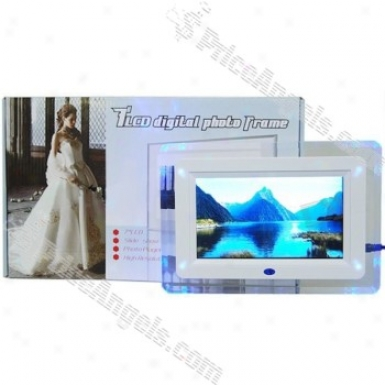 """7"""" Wide Screen Tf5 Lcd Drsktop Digital Photo Frame And Video Player With Remote (480*234px)"""