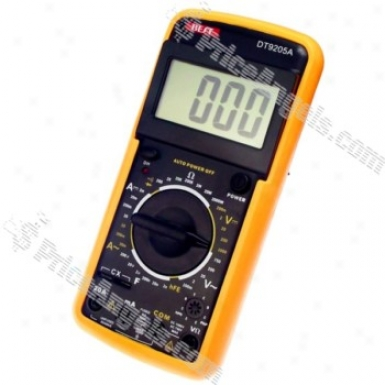 """best Dt9205a 2.7"""" Lcd Digitwl Multimeter With Silicone Case (1*6f22 Included)"""