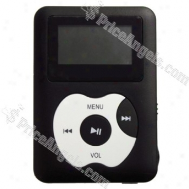 """designer's 1.25"""" Lcd Display Usb Rechargeable Mp3 Player With Loudspeaker (built-in 2gb Memory) - Black"""