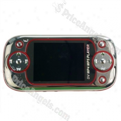 """portable 3.0"""" Lcd Screen 1.3 Mega Pixel Camera And Dv / Mp4 / Mp5 Player In the opinion of Built-in 2gb Memory And Tv Out (support Sd / Mmc Card) - Gentle & Red"""