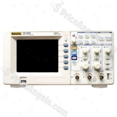 """rigol Ds1052e 5.6"""" Tft Lcd 50mhz 2-channel Digital Color Storage Oscilloscope"""