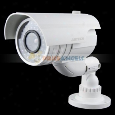 Realistic Looking Fake Dummy Security Ir Camera With Red Blinking Led