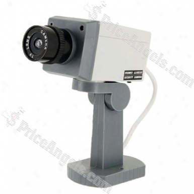 Realistic Looking Security Camera For Indoor And Outdoor (white)