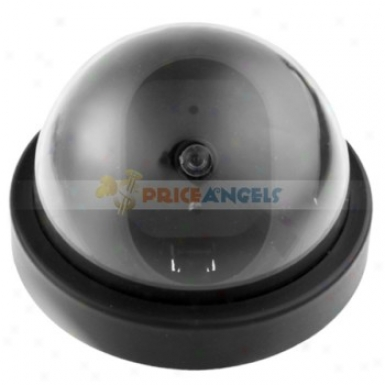 Realistic Pseudo Fake Dummy Lure Dome Security Camera With Red Blinking Led