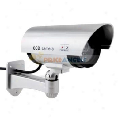 Realistic Pseudo Fake Dummy Decoy Dome Security Ir Camera With Red Blinking Led