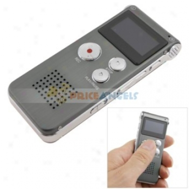 Rechargeable 4gb Lcd Digital Audio Voice Recorder Dictaphone With Mp3 Player(grey)