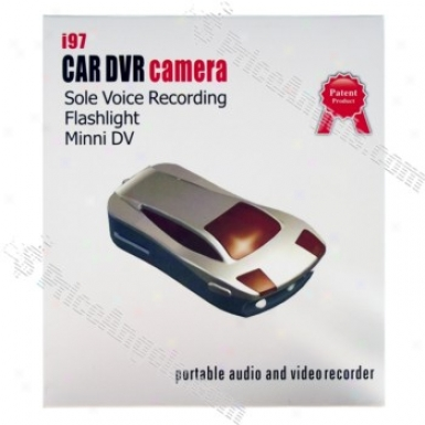 Rechargeable Av 3O0kp Pin-hole Spy Camera Disguised As Car Model With Micro Sd / Tf Card Slot And Car Bracket